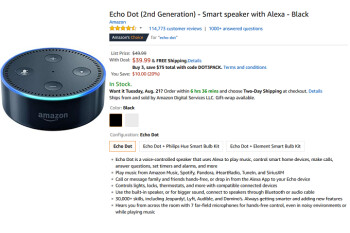 Buy a trio of Amazon Echo Dot smart speakers for $75 with this coupon code