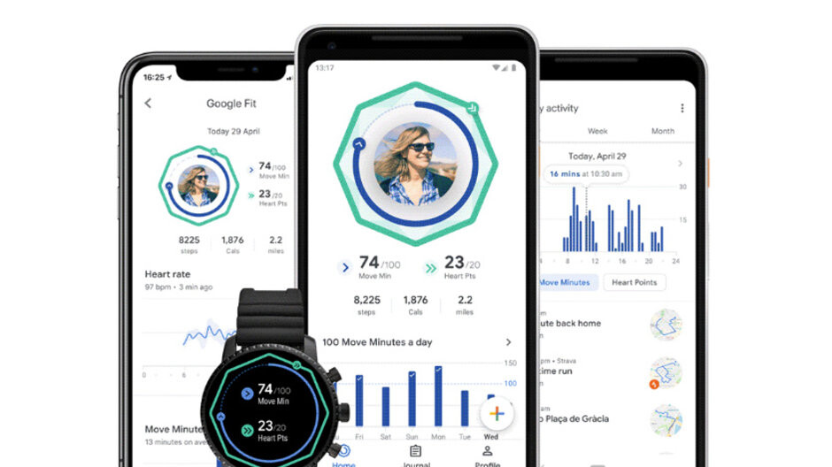 Google Fit has a brand new design and features that promote heart health