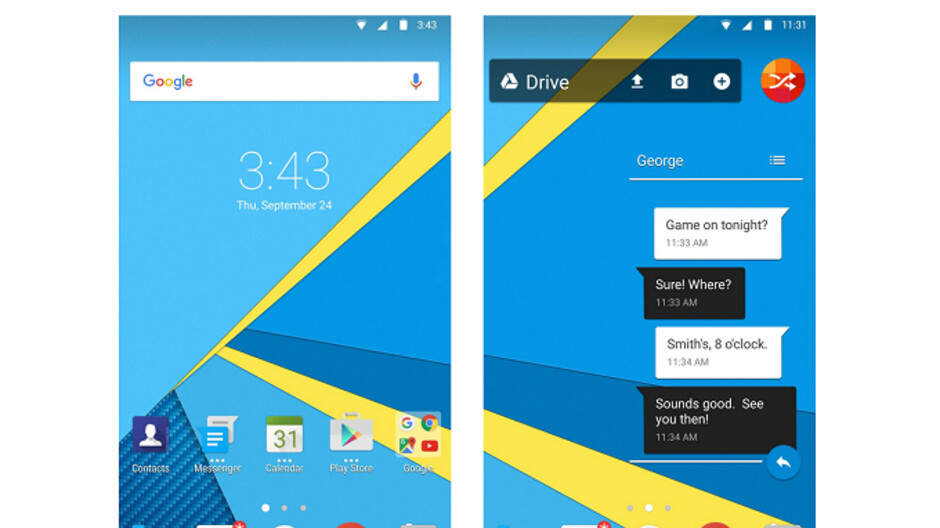 BlackBerry Launcher update allows users to swipe down from any blank spot on the screen to see notifications