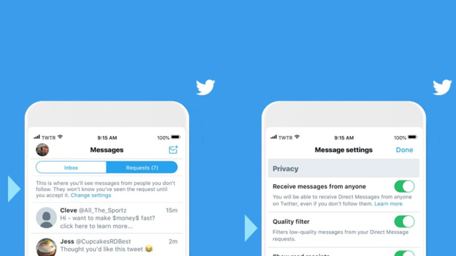Twitter adds new filtering tool for Direct Messages requests