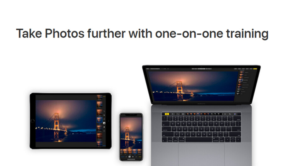 Apple will hook you up with a expert for a one-on-one session on Photos editing