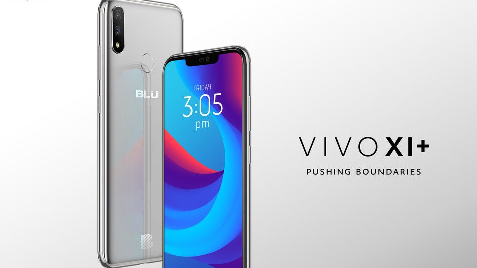 BLU Vivo XI+ goes officially official with 3D facial recognition, notch, Android Pie promise