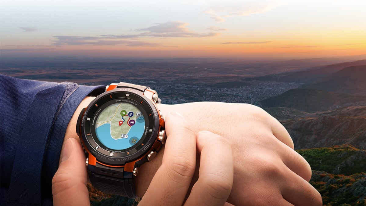 Casio's third-gen Pro Trek smartwatch with Wear OS boasts a battery life of up to 1 month