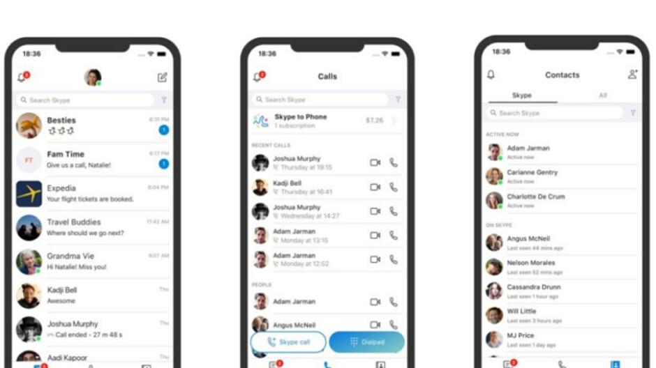 Skype löscht die Highlight-Funktion, um sich auf Anrufe, Videochats und Nachrichten