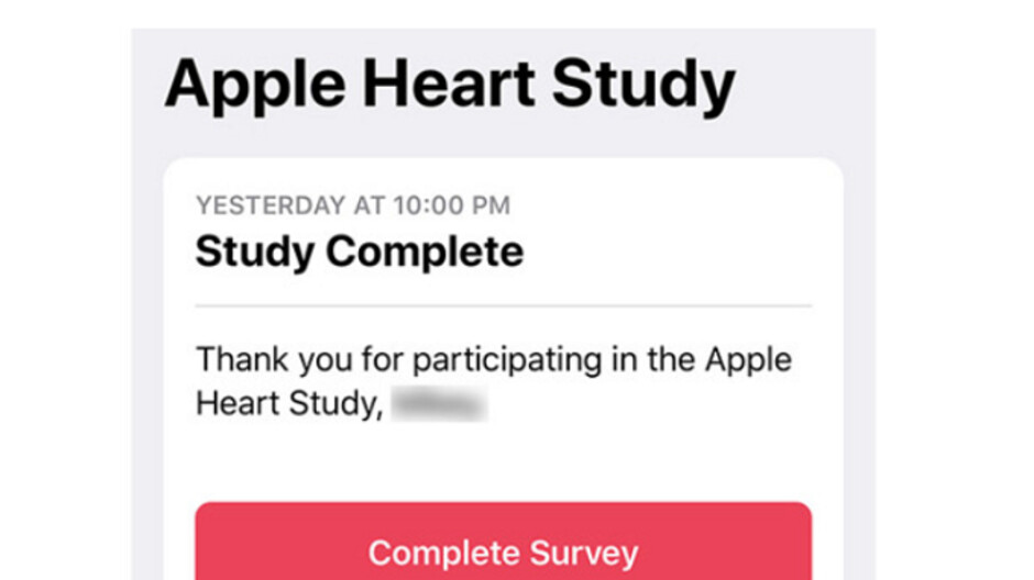 Apple Watch related heart study has ended for early participants