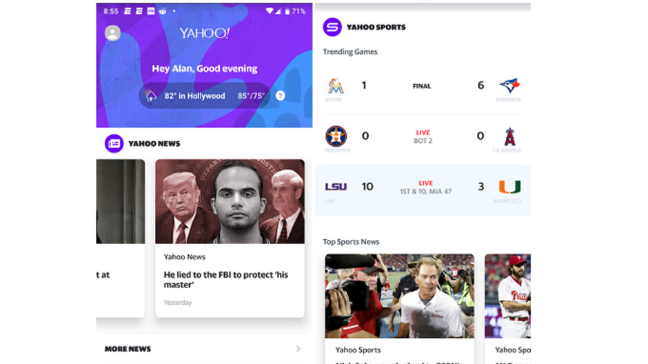 Yahoo releases an all-purpose Android app for personalized news, weather, sports and more