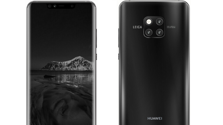Images show Huawei Mate 20 Pro at IFA; new render reveals the phone's front side and display