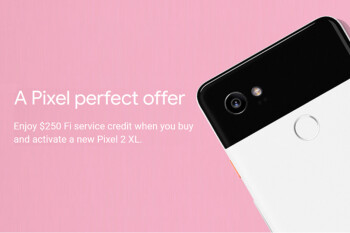 Project Fi will give you $250 in service credits with the purchase of a Pixel 2 XL