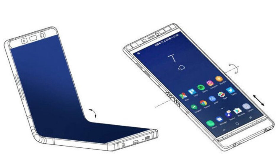 Here are the two screen sizes of Samsung's foldable Galaxy F