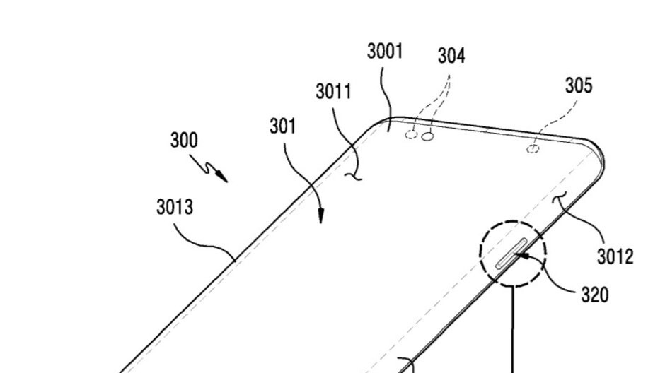 Samsung patents curved display with hardware key cut-outs