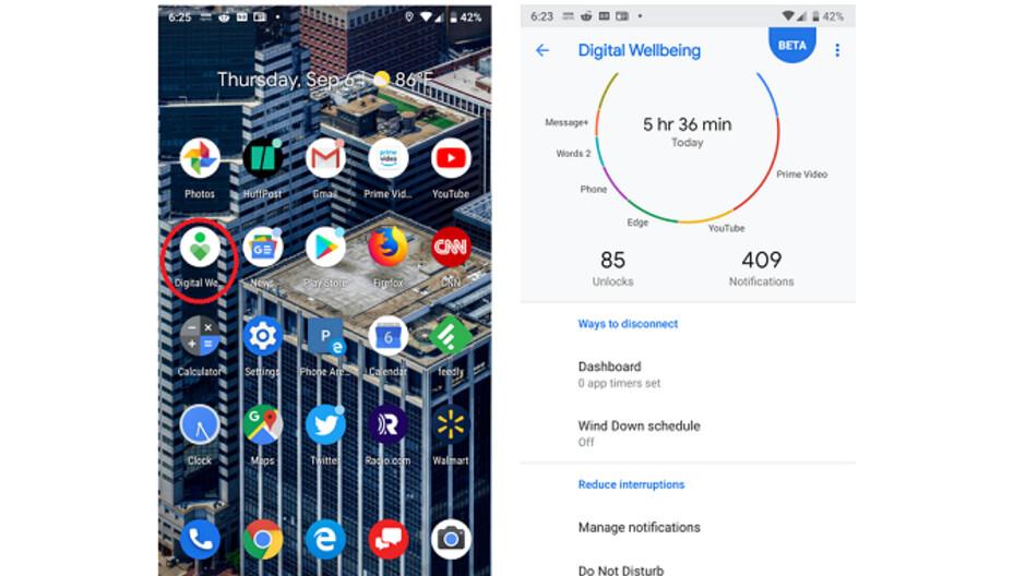 Android Digital Wellbeing App bekommt ein Update