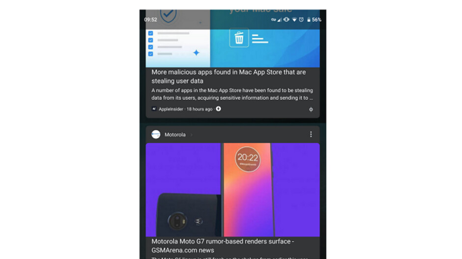Dark Mode for Google Feed is currently being tested on Android 9 Pie