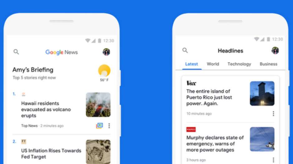 Update to Google News allows app to work regardless of signal strength or phone employed