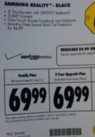 Best Buy to offer the Samsung Reality for $69.99
