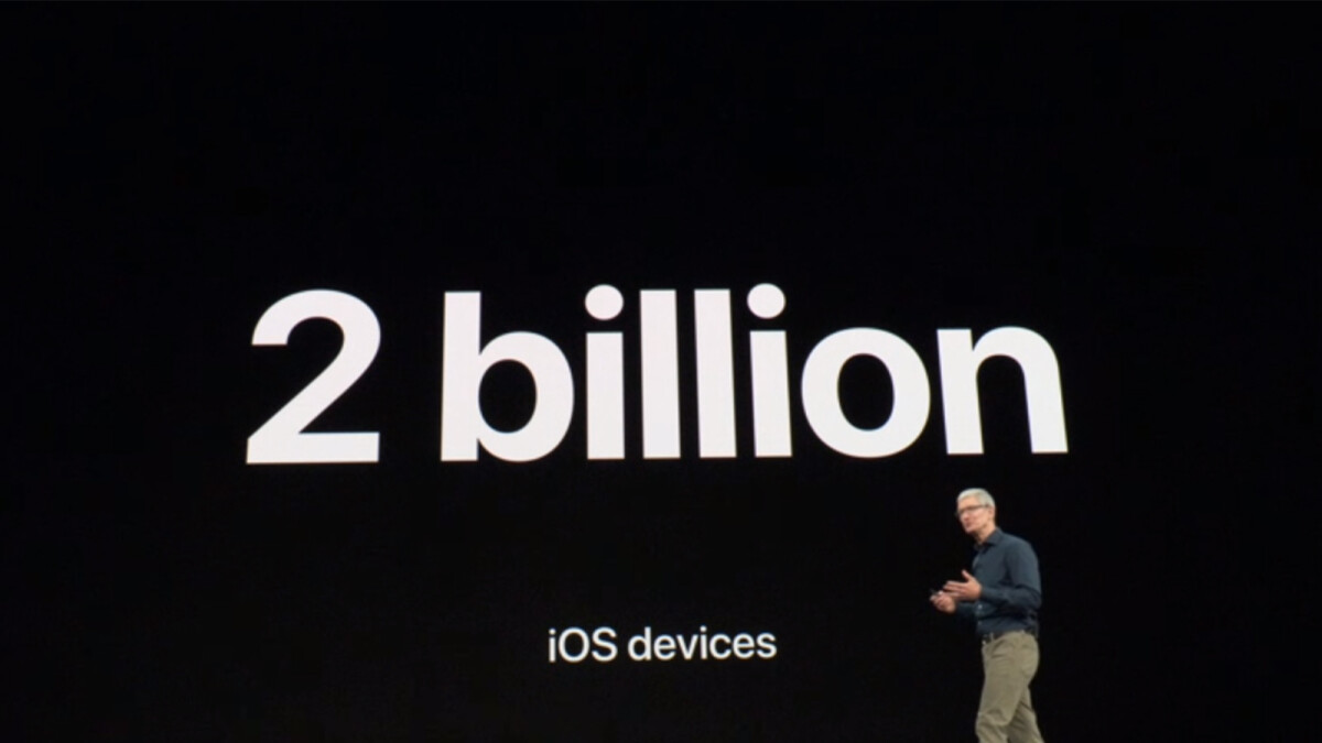 Two billion devices run iOS globally, a huge milestone