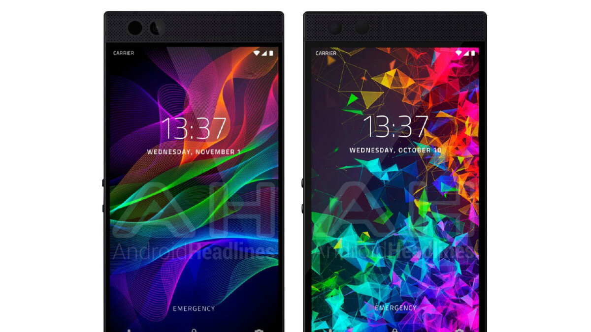 Razer phone 2 Design is identical to the Razer Phone 1 as per a new render