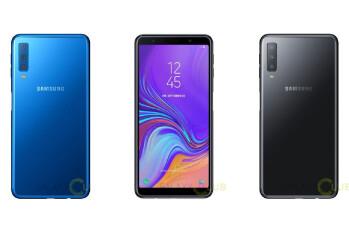 Galaxy A7 (2018) press renders confirm Infinity Display, triple-camera setup