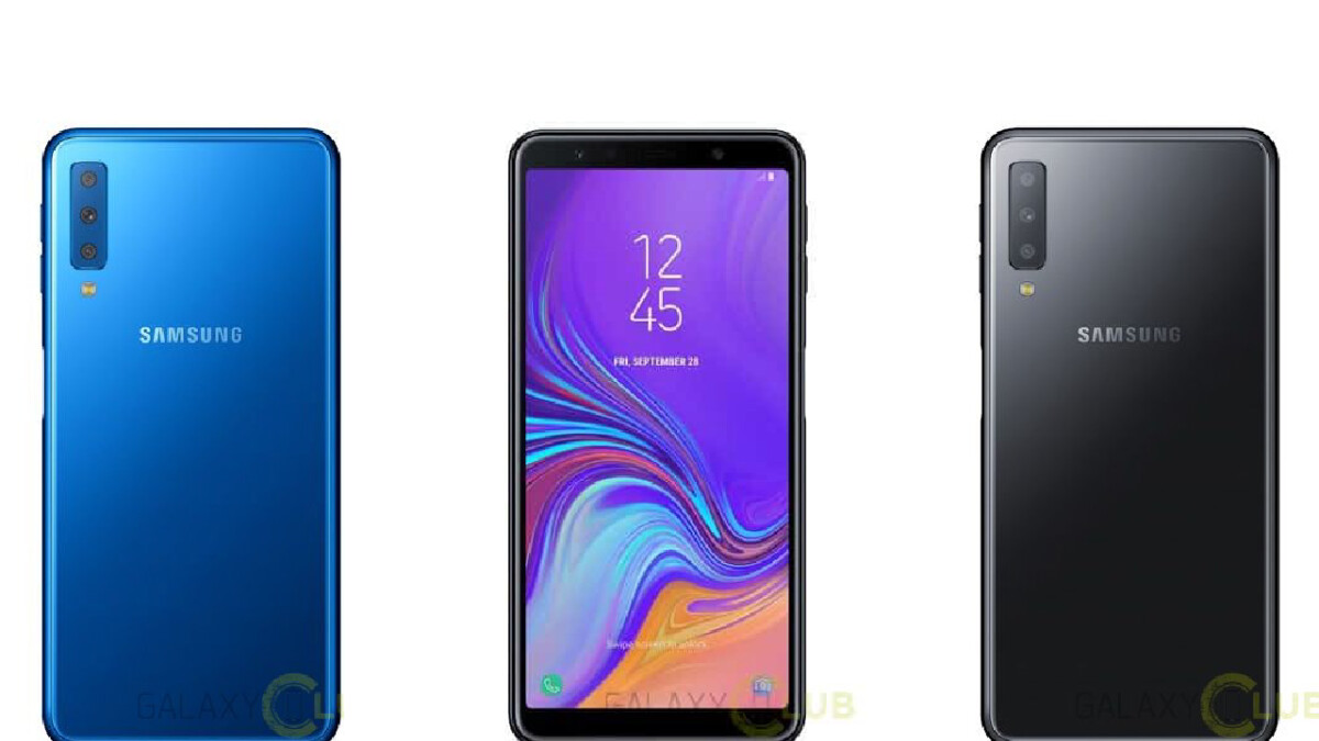 Galaxy A7 (2018) press renders confirm Infinity Display, triple-camera setup