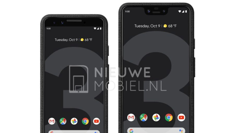 Google Pixel 3 and 3 XL first official press photos leak out