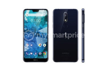 Nokia 7.1 Plus complete with display notch and two rear cameras leaks out