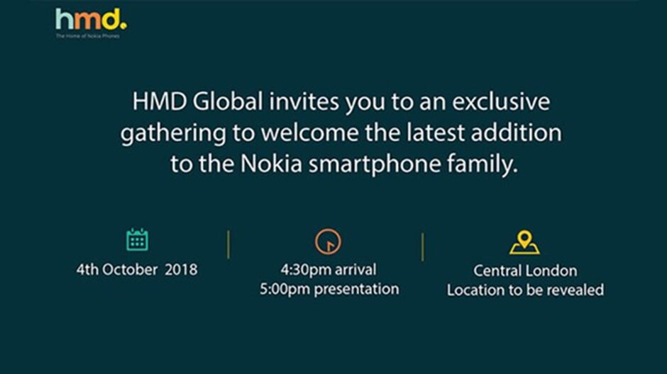 HMD Global to unveil a new Nokia smartphone on October 4