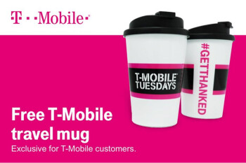 This coming Tuesday, T-Mobile subscribers get a free travel mug for themselves and a friend