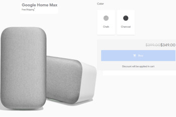 Google Home Max smart speaker now $349 from various stores for a $50 savings