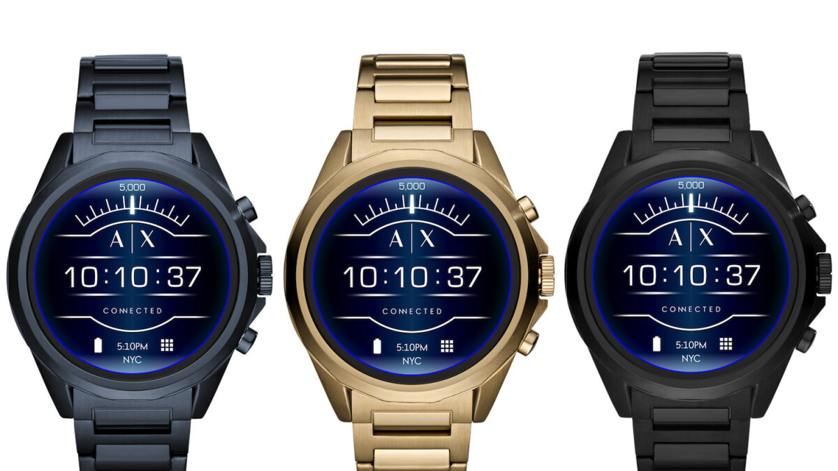 armani android watch