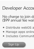 Palm says adios to the $99 annual webOS development fee - for now