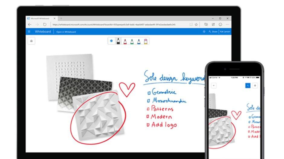 Microsoft startet Whiteboard für iOS