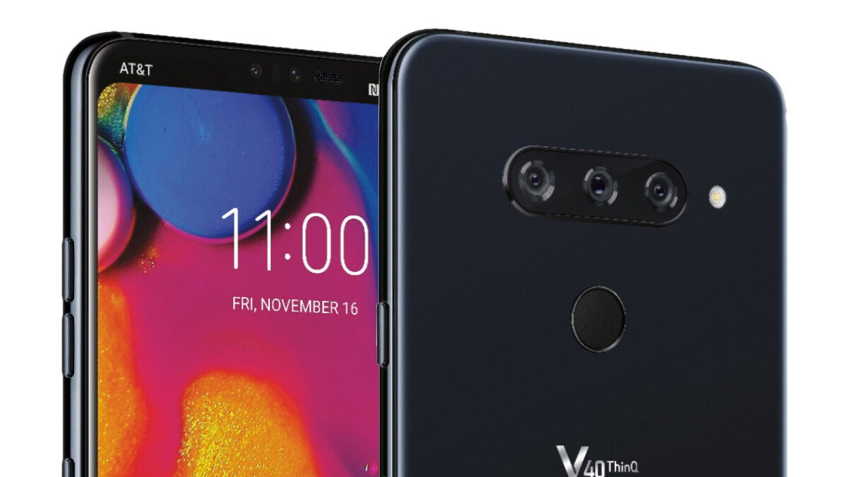 LG V40 press render leaks with hidden notch, confirms triple camera