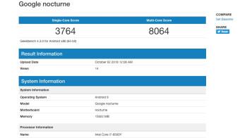 Google Pixel Slate benchmark reveals 16GB RAM version with Intel Core i7