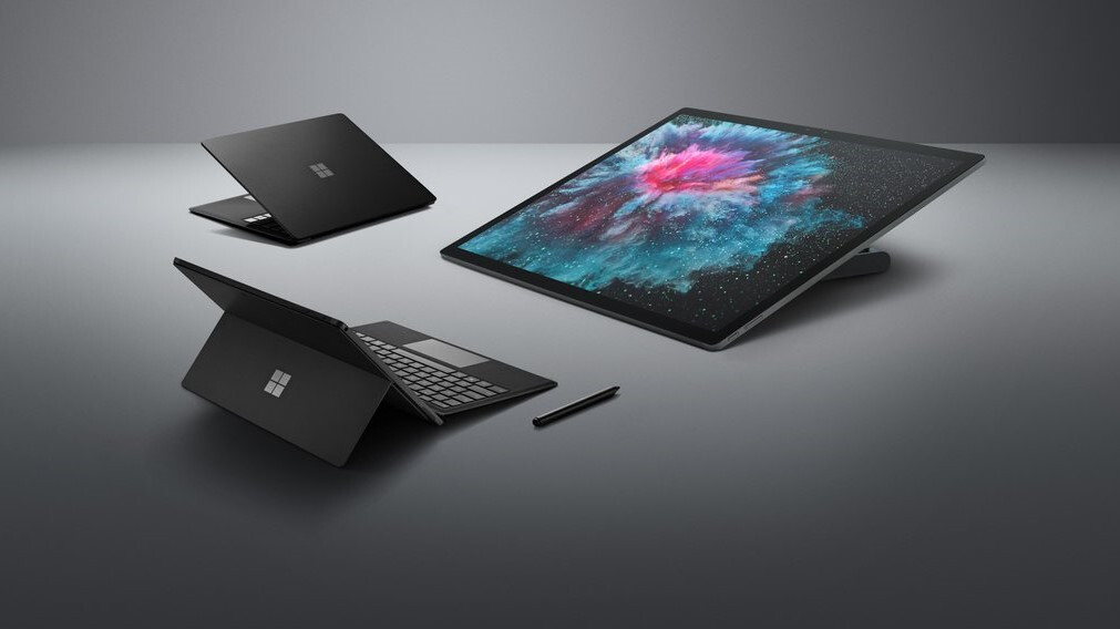 Black Surface Pro 6 leaks out in press image alongside other Surface products