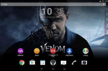 Sony releases Venom Xperia Theme in the Google Play Store, free download