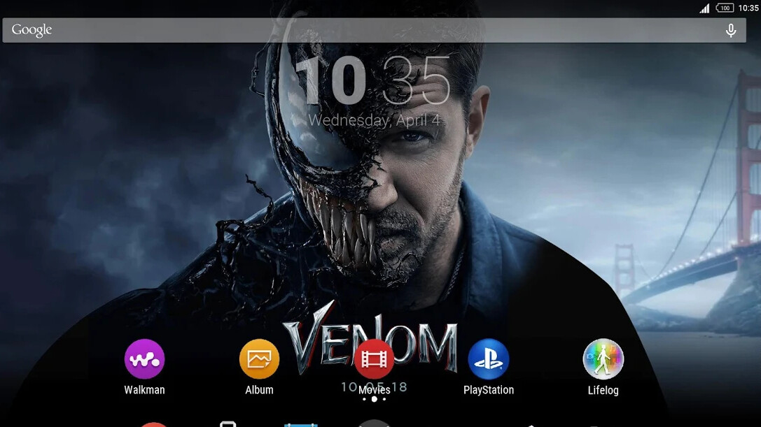 sony releases venom xperia theme in the google play store free download