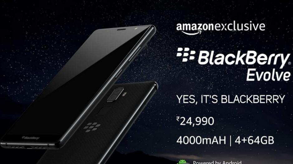 BlackBerry Evolve set for October 10th release via Amazon India