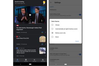 Google News app starts receiving Dark Theme