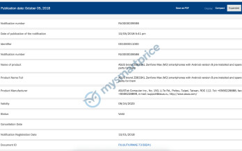 Asus ZenFone Max (M2) and ZenFone Max Pro (M2) get certified ahead of unveiling