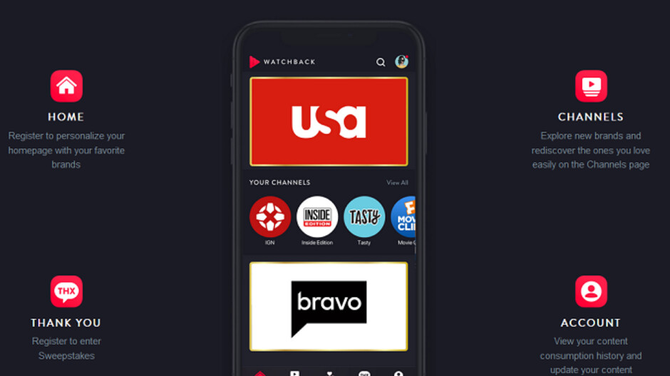 NBCU's WatchBack app could reward you for watching new television shows