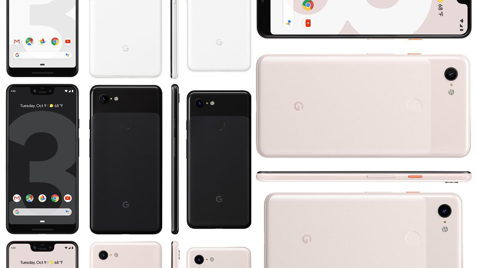 Although it's been leaking around like a broken jug for months now, the third generation of Google's Pixel devices became officially-official just a while ...