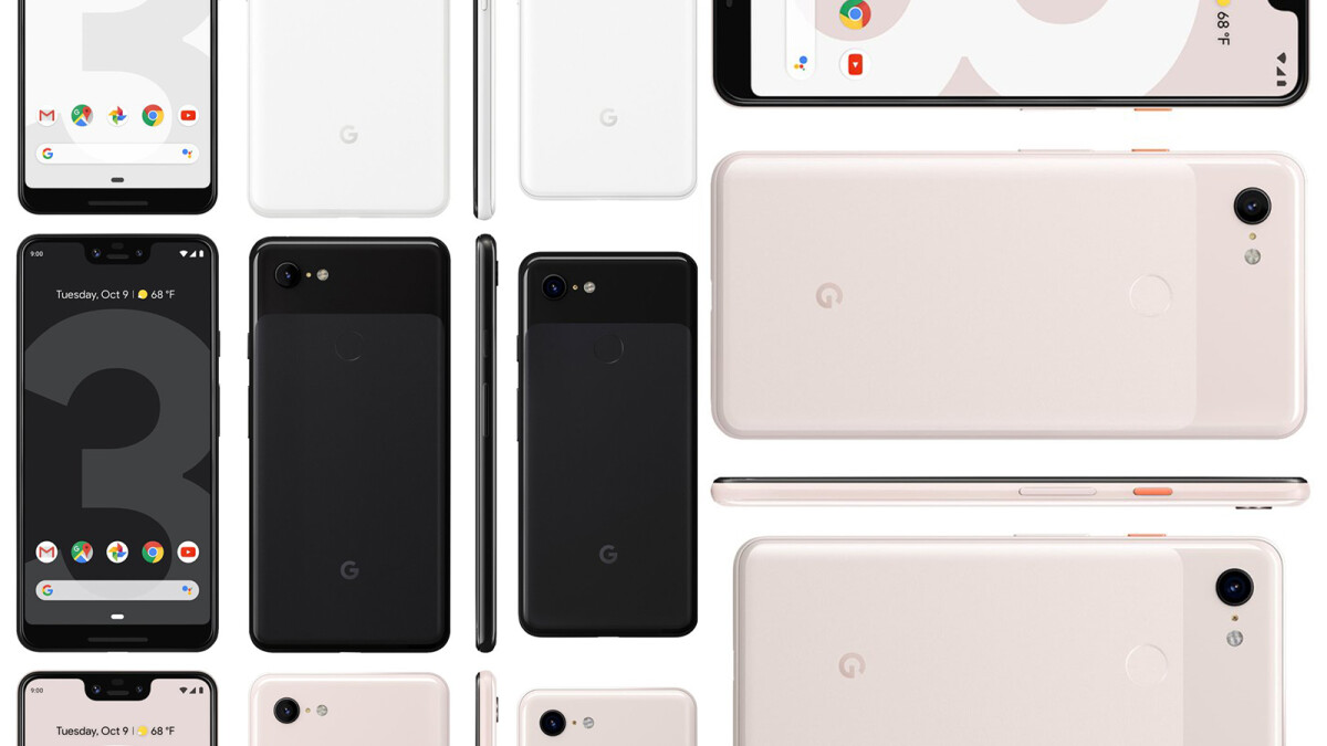 Google Pixel 3 and Pixel 3 XL size comparison vs Galaxy Note 9, S9, S9+, iPhone XS, XS Max, OnePlus 6T