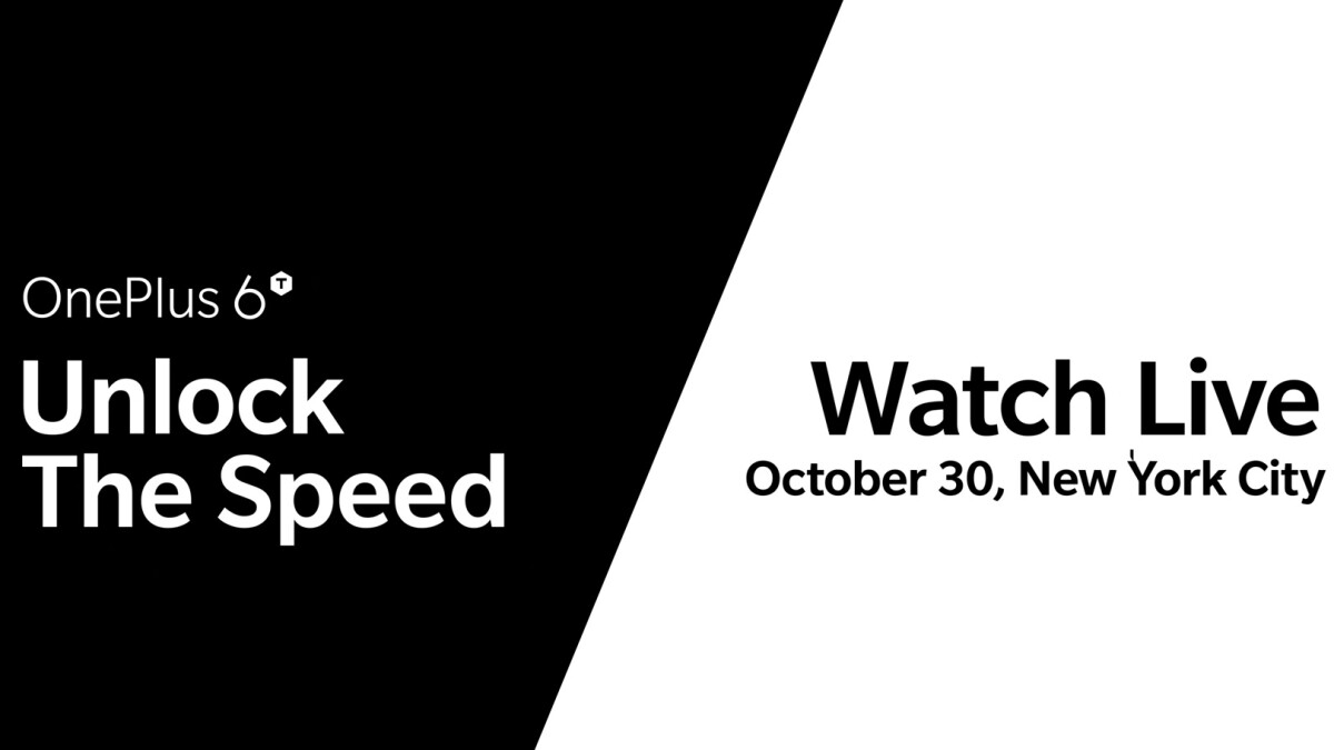 OnePlus 6T sales will start November 6 in Europe, November 2 in India