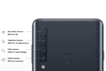 Samsung Galaxy A9s quadruple-camera setup gets detailed in new image