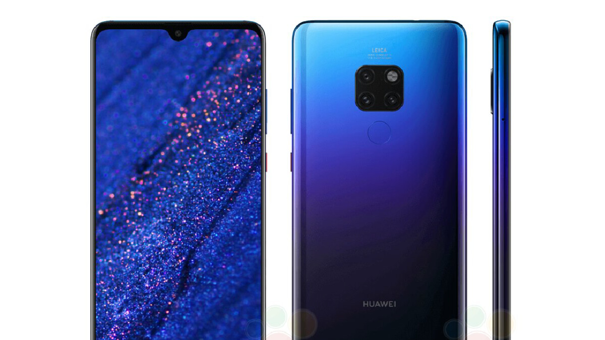 This is the regular Huawei Mate 20 in the Twilight gradient finish