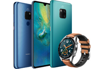 Huawei Mate 20 Pro in turquoise shows up alongside Mate 20 and Huawei Watch GT