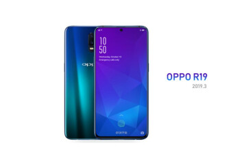 Render allegedly shows off the Oppo R19 with in-display front camera; first look at the OnePlus 7?