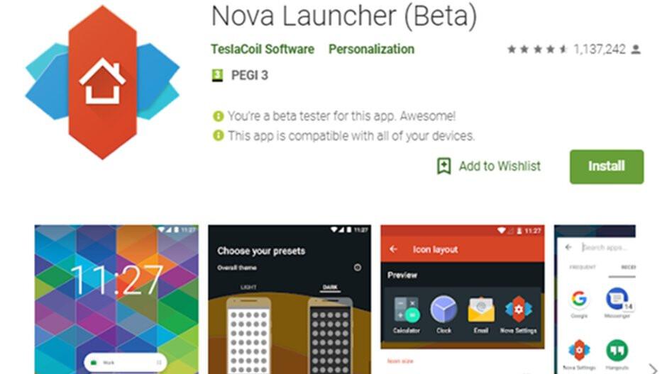 Neueste Nova Launcher 6.0 Beta bringt einige neue Funktionen
