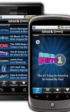 Android to get Sirius XM Radio app