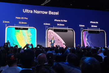 Huawei tells us how big the Apple iPhone XR bezels really are