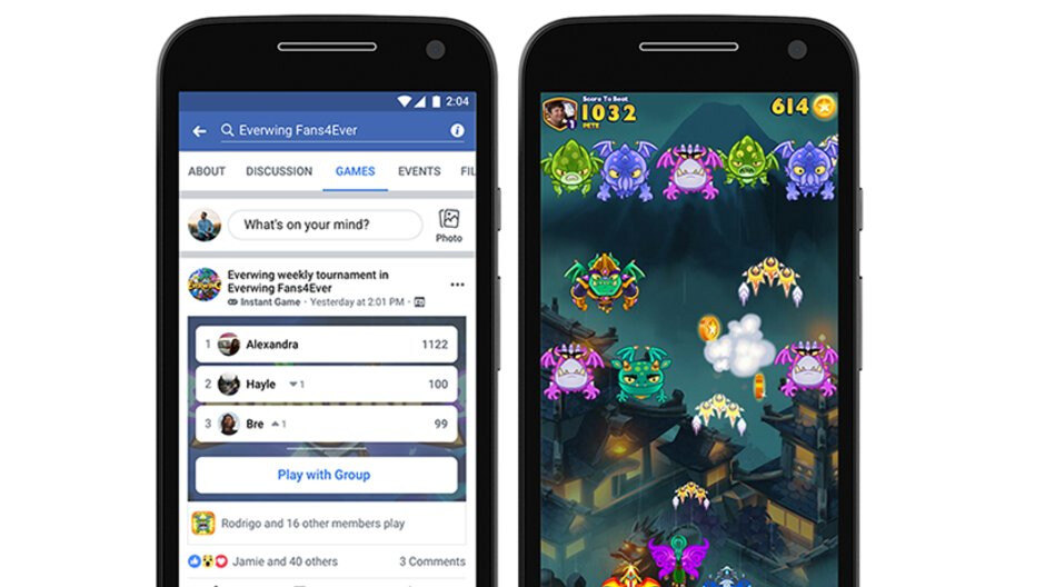 Facebook adds Instant Games to Gaming Groups and Lite app